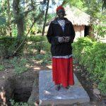The Water Project: Mukhungula Community, Mulongo Spring -  With Her Sanitation Platform