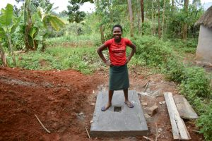 The Water Project:  Esther Posing On A New Sanplat