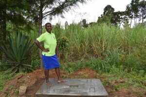 The Water Project:  Redempta Poses On Her New Sanitation Platform