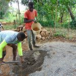 The Water Project: Kimang'eti Community, Kimang'eti Spring -  Mixing Concrete