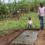 The Water Project: Mahira Community, Mukalama Spring -  Posing With Their New Sanitation Platform