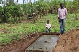 The Water Project:  Posing With Their New Sanitation Platform