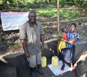 The Water Project:  Multitasking Mothers Have Easier Access To Spring With Stairs