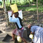 The Water Project: Shianda Township Community, Olingo Spring -  Easy In Easy Out On The Stairs