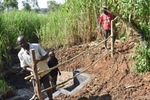 The Water Project:  Constructing A Protective Fence