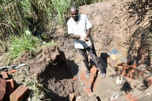 The Water Project:  Cutting Wire For Wall Reinforcement