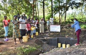 The Water Project:  Field Officer Adelaide Hands Over The Spring To Community