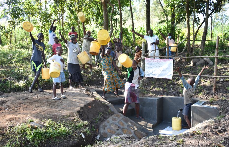 The Water Project : 6-kenya20021-celebrations-at-olingo-spring-1