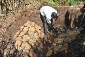 The Water Project:  Laying Stone Pitching