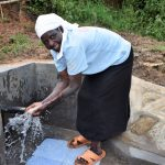 The Water Project: Mukhungula Community, Mulongo Spring -  Rosemary Enjoying The Water