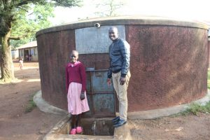 The Water Project:  Jescah And Field Officer Erick