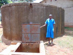 The Water Project:  Vallary At The Rain Tank