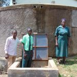 The Water Project: Esibila Secondary School -  Posing At The Tank