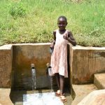 The Water Project: Musiachi Community, Mutuli Spring -  Precious Gives Thumbs Up At The Spring