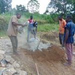 The Water Project: Machemo Community, Boaz Mukulo Spring -  Mixing Cement