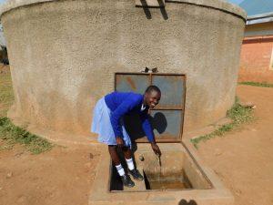 The Water Project:  Natasha Posing At The Tank