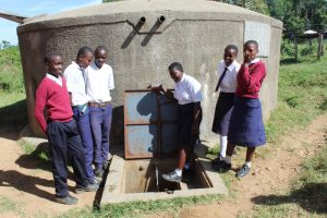 The Water Project:  Students At The Water Point