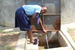 The Water Project:  Seline At The Rain Tank