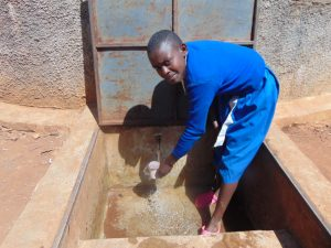 The Water Project:  Pauline Gets A Drink Of Clean Water