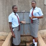 The Water Project: Koitabut Secondary School -  Students At The Water Tank
