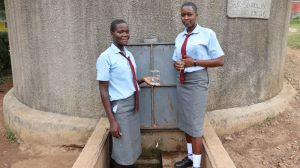The Water Project:  Students At The Water Tank