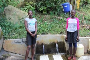 The Water Project:  Florah And Another Girl At The Spring