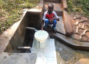 The Water Project:  Festus Fetching Water