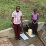 The Water Project: Shihingo Community, Mangweli Spring -  Faith And Field Officer Jonathan