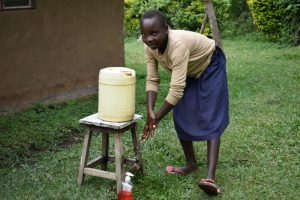The Water Project:  Adasia Washing Her Hands