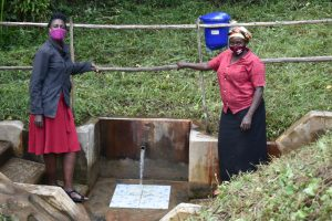 The Water Project:  Ms Shigali With Ms Pamela At The Water Point