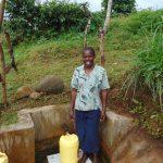 The Water Project: Musango Community, Mwichinga Spring -  Mildred Mukhwana At The Spring