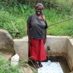 The Water Project: Musango Community, Mushikhulu Spring -  Juliana Muyoma At The Spring