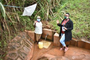 The Water Project:  Field Officer Chelagat With Mary At The Spring