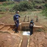 The Water Project: Lutonyi Community, Lutomia Spring -  Field Officer Mary And Vironitana