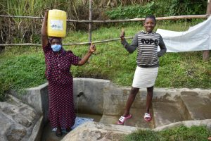 The Water Project:  Gloria With Margret At The Spring