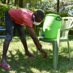 The Water Project: Shianda Township Community, Olingo Spring -  Handwashing Session