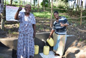 The Water Project:  Olingo Spring Can Now Be Accessed Safely By All Ages