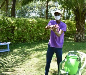 The Water Project:  Trainer David Shows Ten Steps Of Handwashing