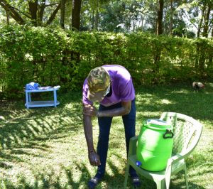 The Water Project:  Trainer David Washes Up To His Elbows