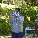 The Water Project: Shianda Township Community, Olingo Spring -  Example Mask Made At Training