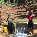 The Water Project: Shihome Community, Peter Majoni Spring -  Community Members At The Spring
