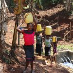 The Water Project: Shihome Community, Peter Majoni Spring -  Ready To Take Clean Water Home