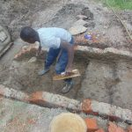 The Water Project: Machemo Community, Boaz Mukulo Spring -  Plasterwork