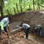 The Water Project: Kimang'eti Community, Kimang'eti Spring -  Stone Backfilling
