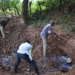 The Water Project: Kimang'eti Community, Kimang'eti Spring -  Soil Backfilling