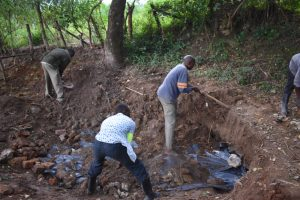 The Water Project:  Soil Backfilling