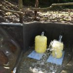 The Water Project: Kimang'eti Community, Kimang'eti Spring -  Collecting Water