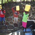 The Water Project: Kimang'eti Community, Kimang'eti Spring -  People Posing At The Water Point