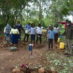 The Water Project: Kimang'eti Community, Kimang'eti Spring -  Learning How To Keep Physical Distance