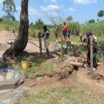 The Water Project: Mahira Community, Mukalama Spring -  Fencing